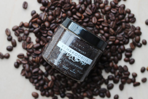 HOIA the body scrub of the coffee coin to help fight cellulite, cools, improves blood circulation, removes dead skin cells and makes the skin silky smooth.
