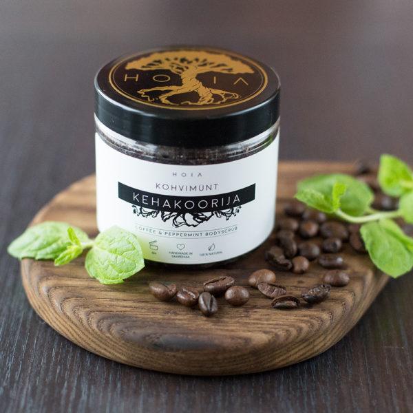 Looduslik kohvikoorija Kohvimünt on jahutav ja ergutab nahahooldus, mis aitab võidelda tselluliidiga, parandab verevarustust, aitab väljutada vett ning jätab naha toidetuks, niisutatuks ja siidiselt siledaks!